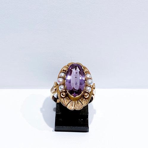 Handgemaakte Amatist Ring