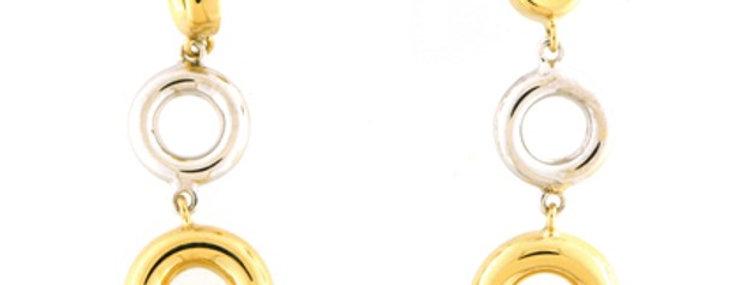 14 krt. Bicolour gouden oorhangers