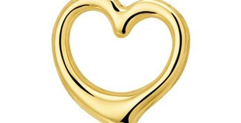 14 krt. Geelgouden hart hanger