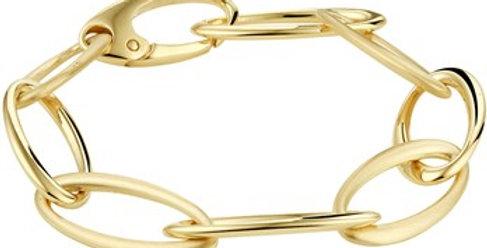14 krt. Geelgouden open ovale schakelarmband 21,5cm
