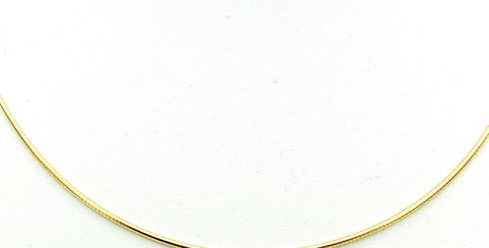 14 krt. Geelgouden flexibel slang collier