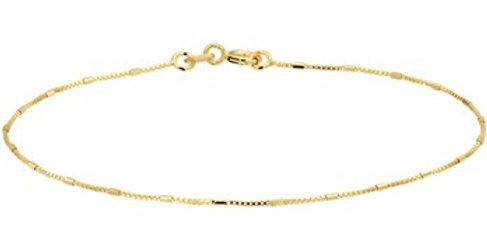 14 krt. Geelgouden ventiaans/staafjes armband
