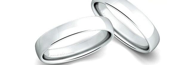 1 Witgouden 14 krt. Christian Bauer trouwring 4,5 mm