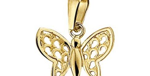 14 krt. Geelgouden vlindertje