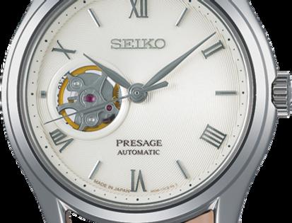 Seiko Presage SSA413J1 open wijzerplaat lederen band
