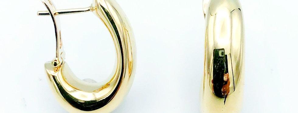 14 krt. Geelgouden druppelvormige oorhangers