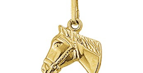 14 krt. Geelgouden paardehoofdje