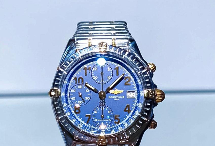 Goudstaal Breitling horloge uit 1995
