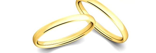 1 Geelgouden 14 krt. Christian Bauer trouwring 2,5 mm