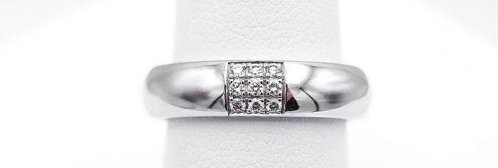 14 krt. Witgouden ring met briljant geslepen diamanten