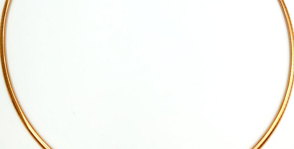 14 krt. Rosegouden flexibel omega collier