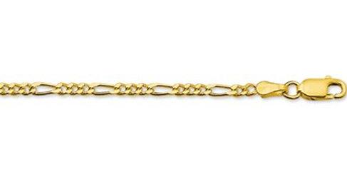 14 krt. Geelgouden armband met figaro schakel