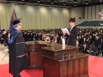 米川周人(副ゼミ長)が卒業式の総代を務めました