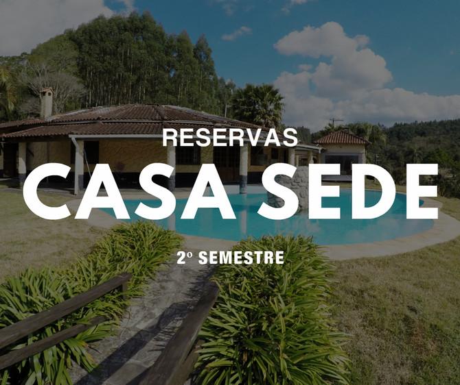 Reservas Casa Sede - Segundo Semestre