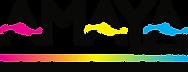 Amaya Logo - Gradient Bar with Slogan -