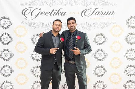 • Geetika & Tarun • ——————————————————————————— #GnT0717 #tarunwedsgeetika #geetikawedstarun #weddingreception #receptionphotobooth  #photob