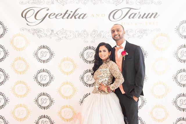 • Geetika & Tarun • _#GnT0717 #tarunwedsgeetika #geetikawedstarun #gnt #weddingreception #receptionphotobooth  #summerwedding  #thecouplethe