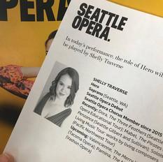 Making my debut at Seattle Opera!