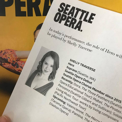Making my debut at Seattle Opera!