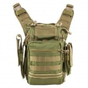 VISM® by NcSTAR® PVC FIRST RESPONDERS UTILITY BAG/ GREEN w/TAN TRIM