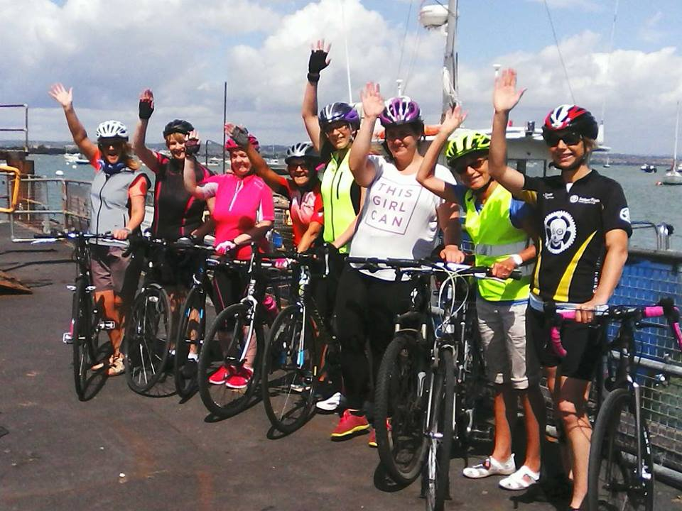 LADIES CYCLE DAY OUT ON THE FERRY