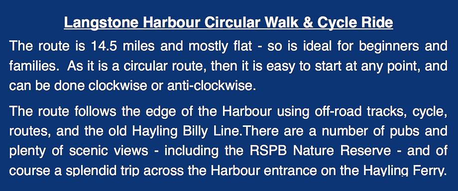 LANGSTONE HARBOUR WALK & RIDE INFORMATION
