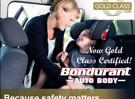 Bondurant Auto Body Receives GOLD CLASS STATUS!