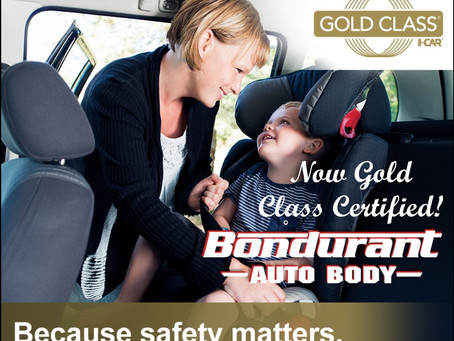 Bondurant Auto Body Receives GOLD CLASS STATUS!