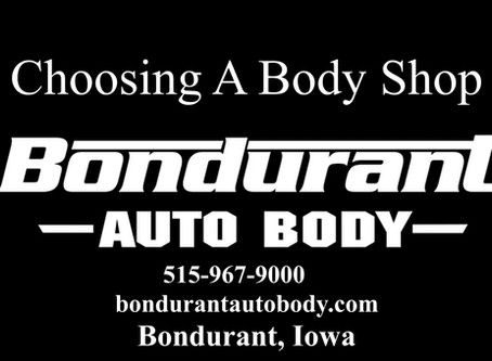 Choosing A Body Shop