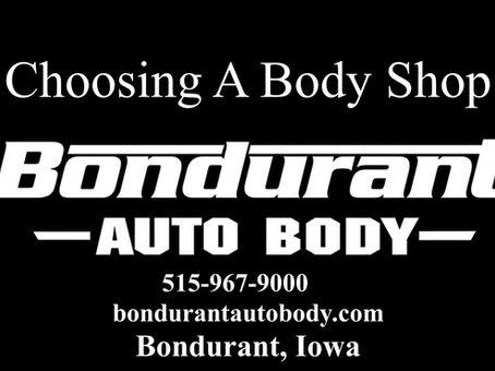 Choosing A Body Shop