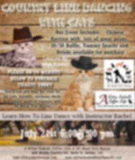 country line dancing with cats 7-2019.jp