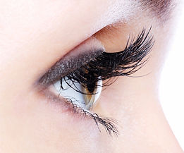 Woman eye lashes