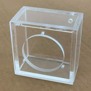 Clear Acrylic Speaker Boxes
