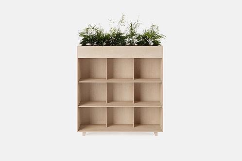 Fin Bookshelf Planter