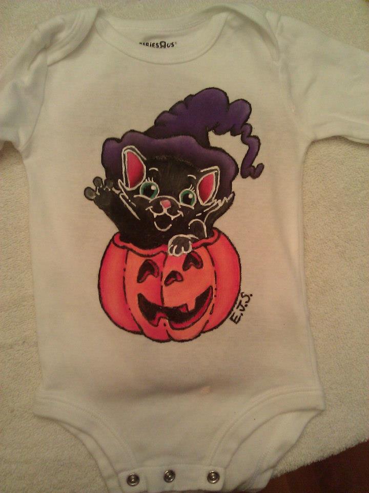 Cat and Pumpkin Shirt