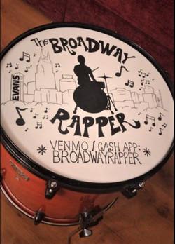 "Custom ""Broadway Rapper"" Drumhead"
