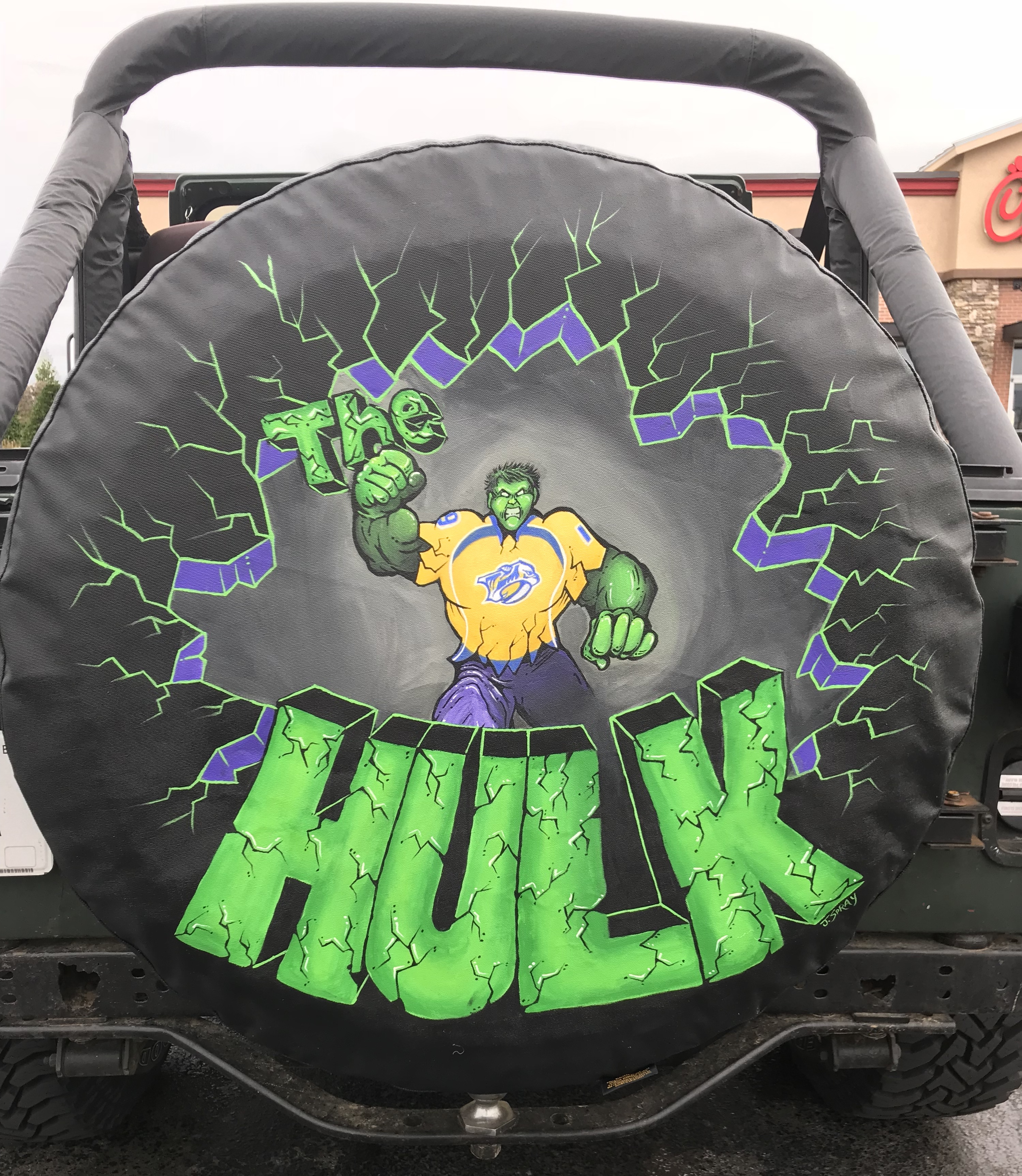 The Hulk Tire Cover 2