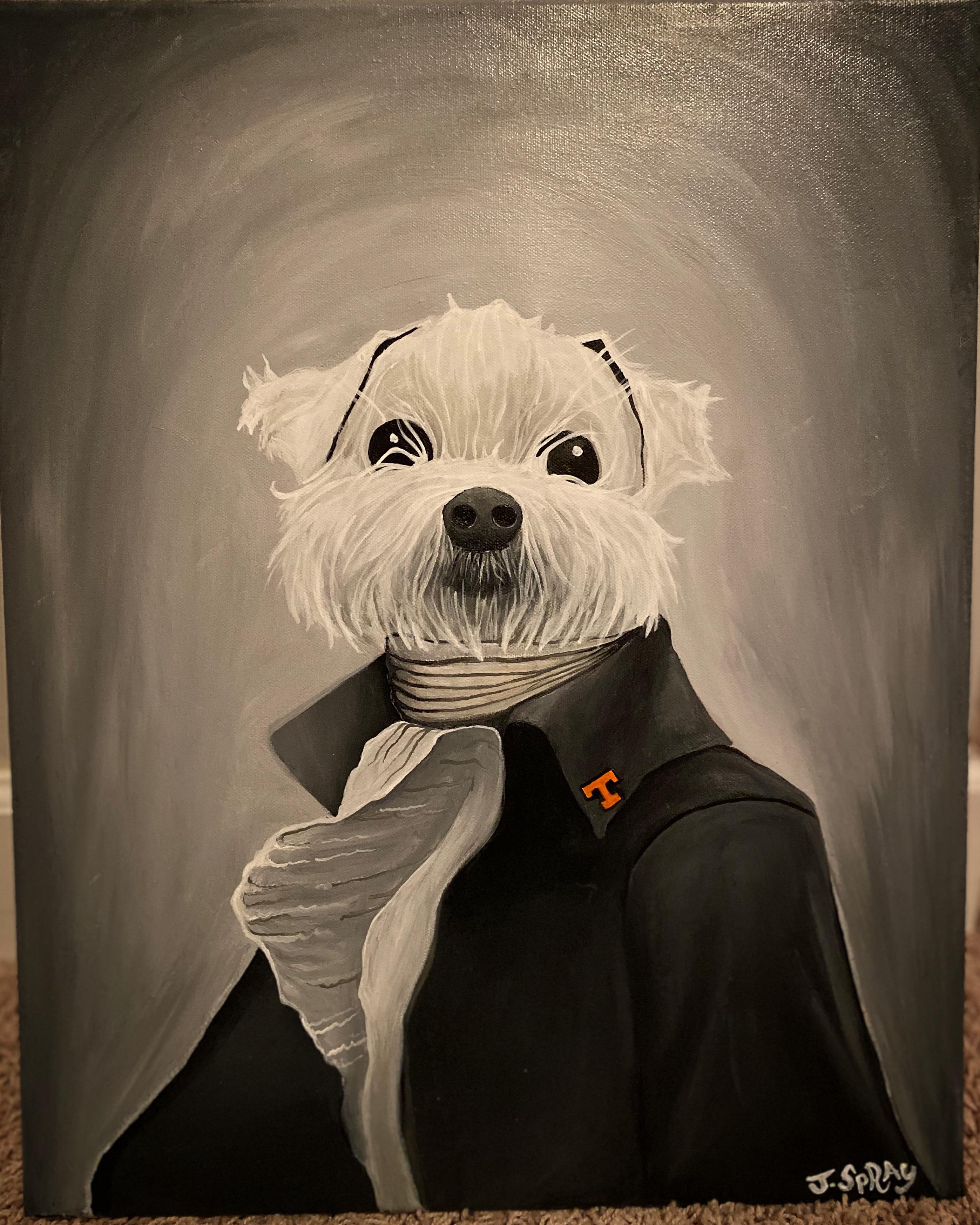 """Custom Dog """"Bear"""" Painting"""