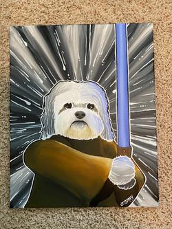 """Custom Dog """"Luke Skywalker"""" Painting"""