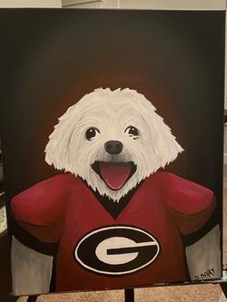 "Custom Dog ""Dudley"" Painting"