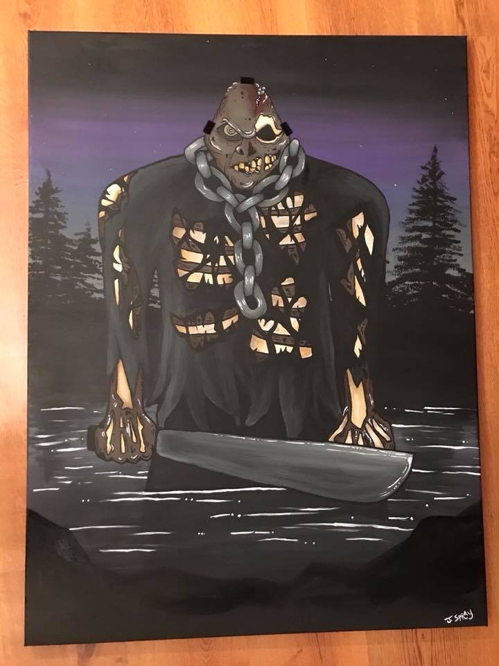 Jason Painting with no Mask