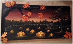 Halloween Fall Scene