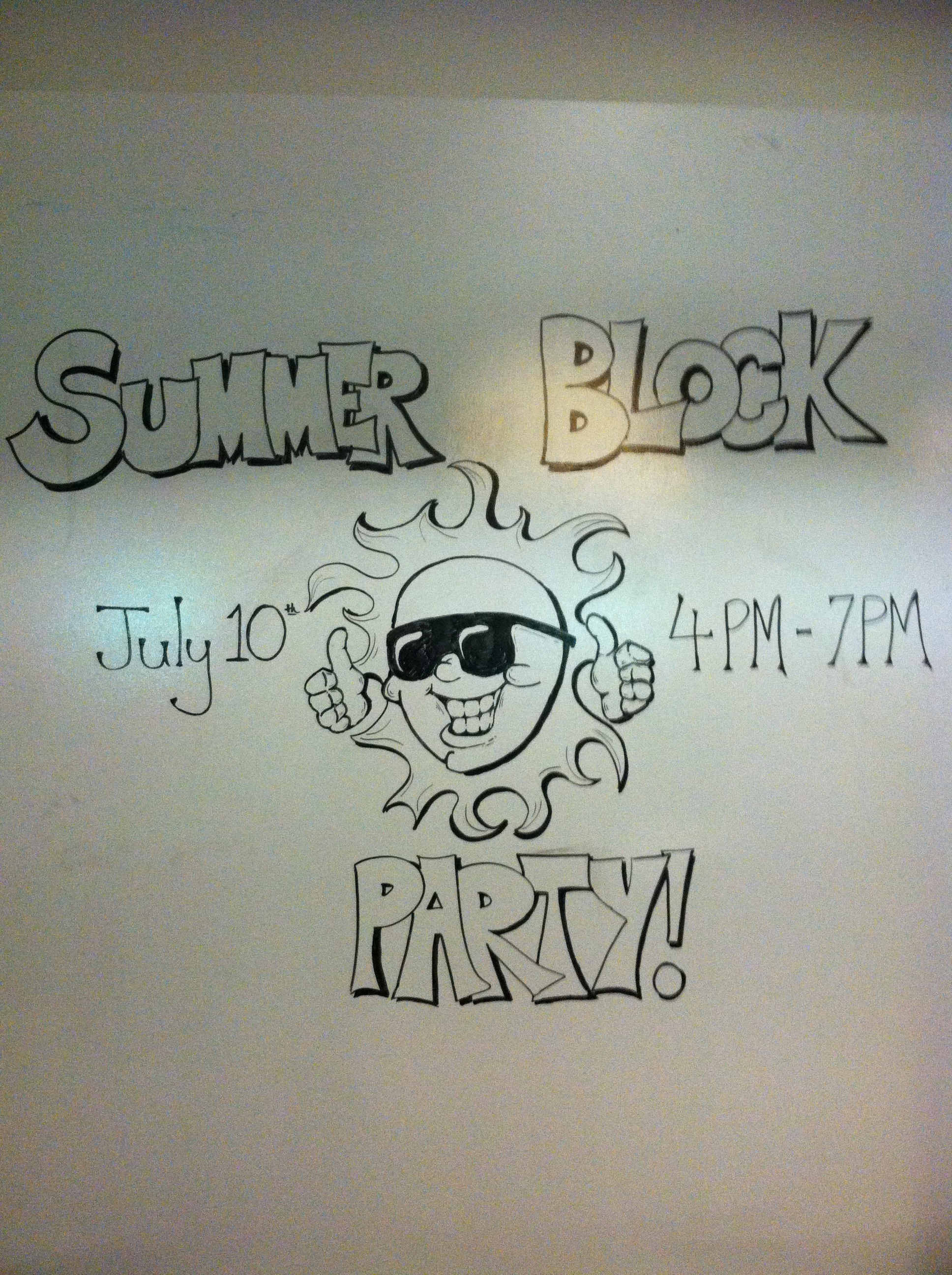Summer Block Party Drawing