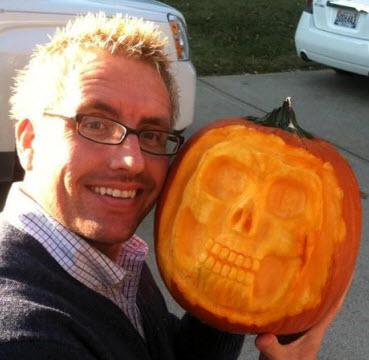 Skeleton Pumpkin Carving