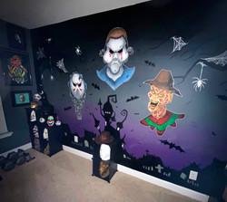 Halloween/ Horror Mural