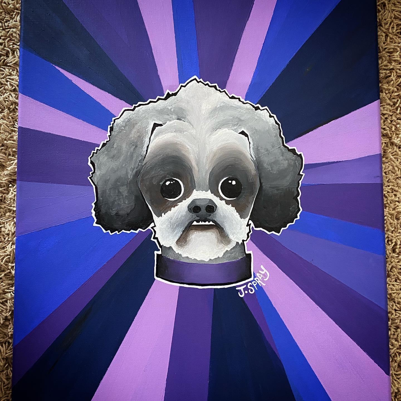 "Custom Dog ""Annie"" Painting"