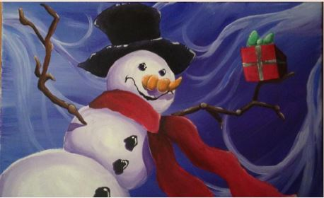 Snowman on Canvas