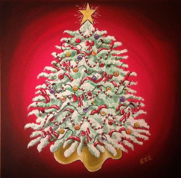 Christmas Tree with Real Lights