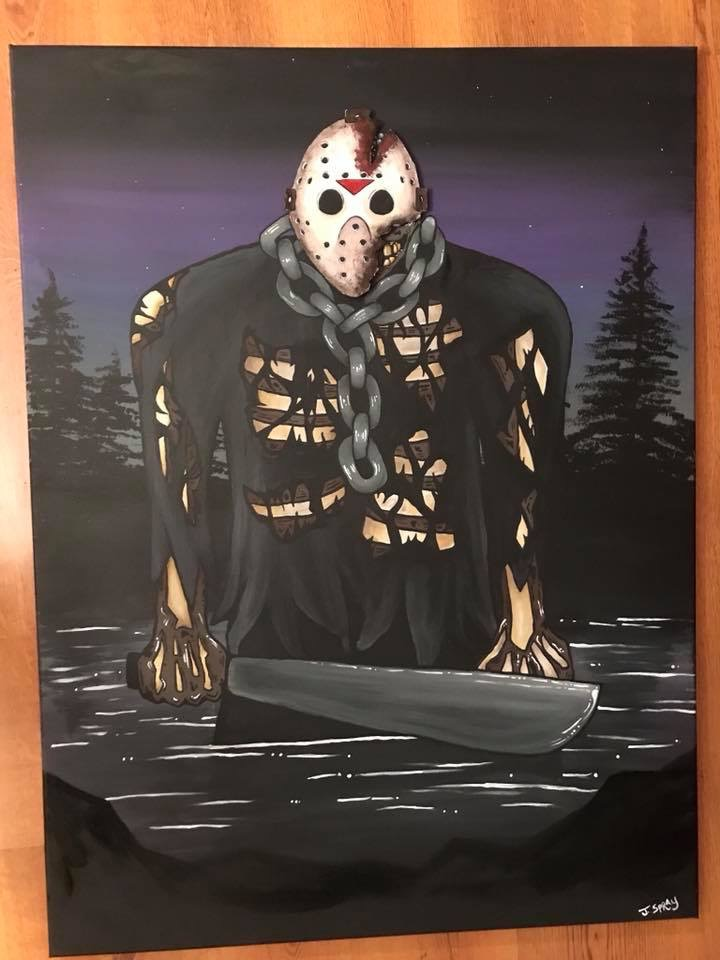Jason Painting with Mask