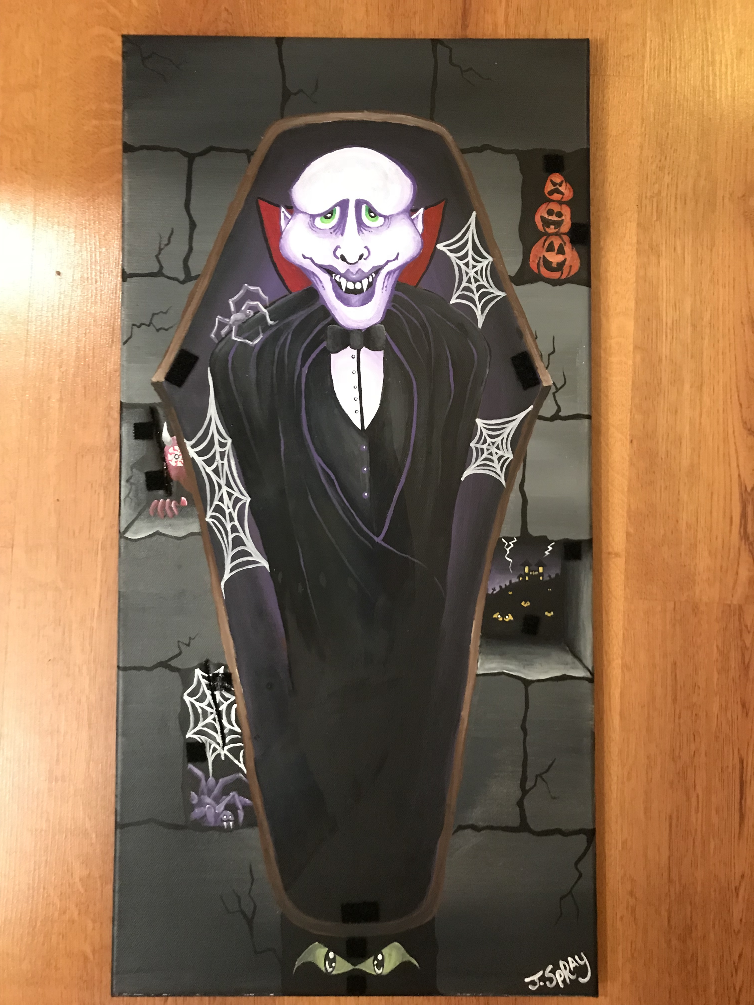 Coffin Painting Cont'd